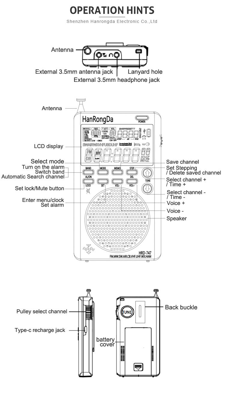 Factory Price Mini Digital All Band Pocket Portable Speaker Radio