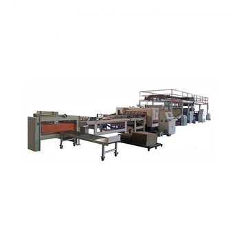 MJSGL-4 Corrugated cardboard production line single facer (2 layer corrugator,double wall corrugated board plant)