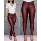 Latest fashion fall autumn sexy bodycon fashion waterproof leather pants for women