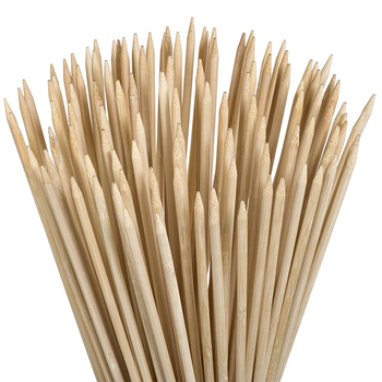 FSC Safe Marshmallow Roasting Sticks 36Inches 5mm Thick Extra Long Wooden Skewers Perfect for Hot Dog Kebab Sausage