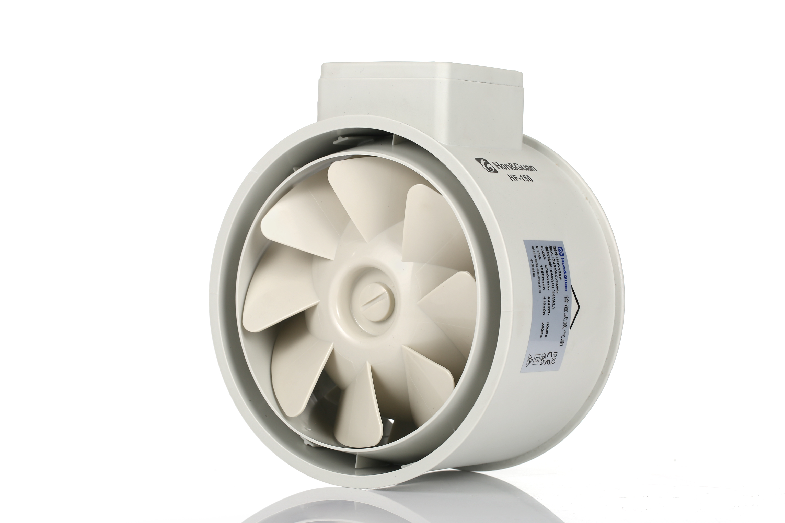 6inch plastic silent ventilation in line duct fan for grow tents