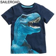 SAILEROAD 2-7лет Animal Lion Baby Дети Мальчики Футболка Лето Дети Мальчики Девочки Топы Тис Одежда Детская одежда для мальчиков Хлопок(Китай)