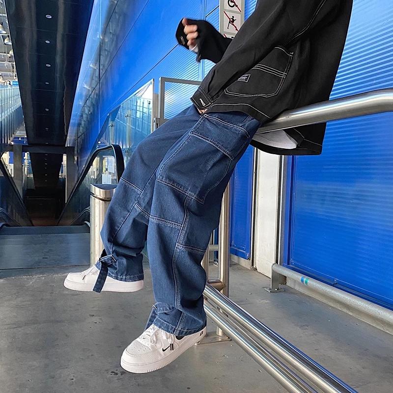 Plus Tamano De Los Hombres Pantalones Vaqueros De Pierna Ancha Para Hombre 2021 Primavera Hip Hop Streetwear Nuevo Suelto Recto Baggy Pantalones De Mezclilla Buy Baggy Pantalones De Mezclilla Baggy Pantalones De
