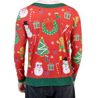 High Quality Red Green Women Winter Sweater Unisex Print Snowman Ugly Christmas Cardigan Sweater