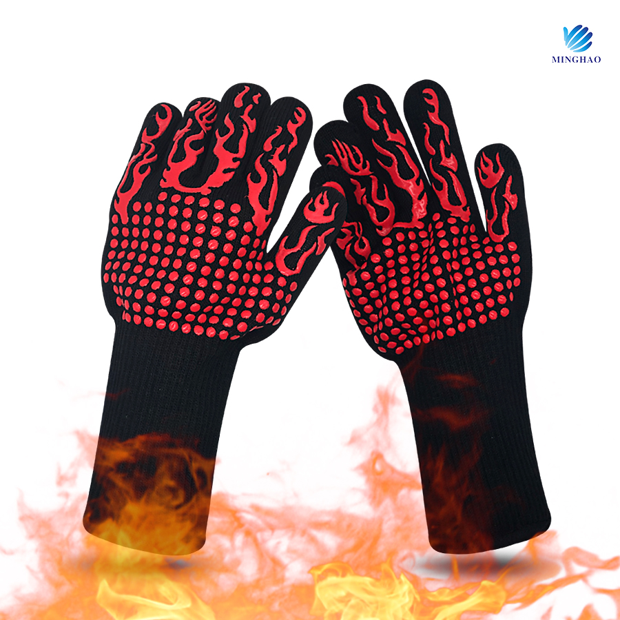 High Temperature Resistant BBQ Gloves microwave oven gloves wholesale cotton hand gloves