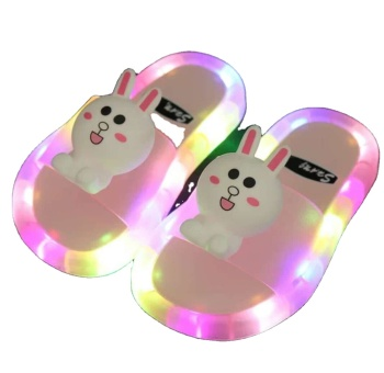 Summer small yellow duck Led Flashing Light Luminous non-slip Children's Slippers