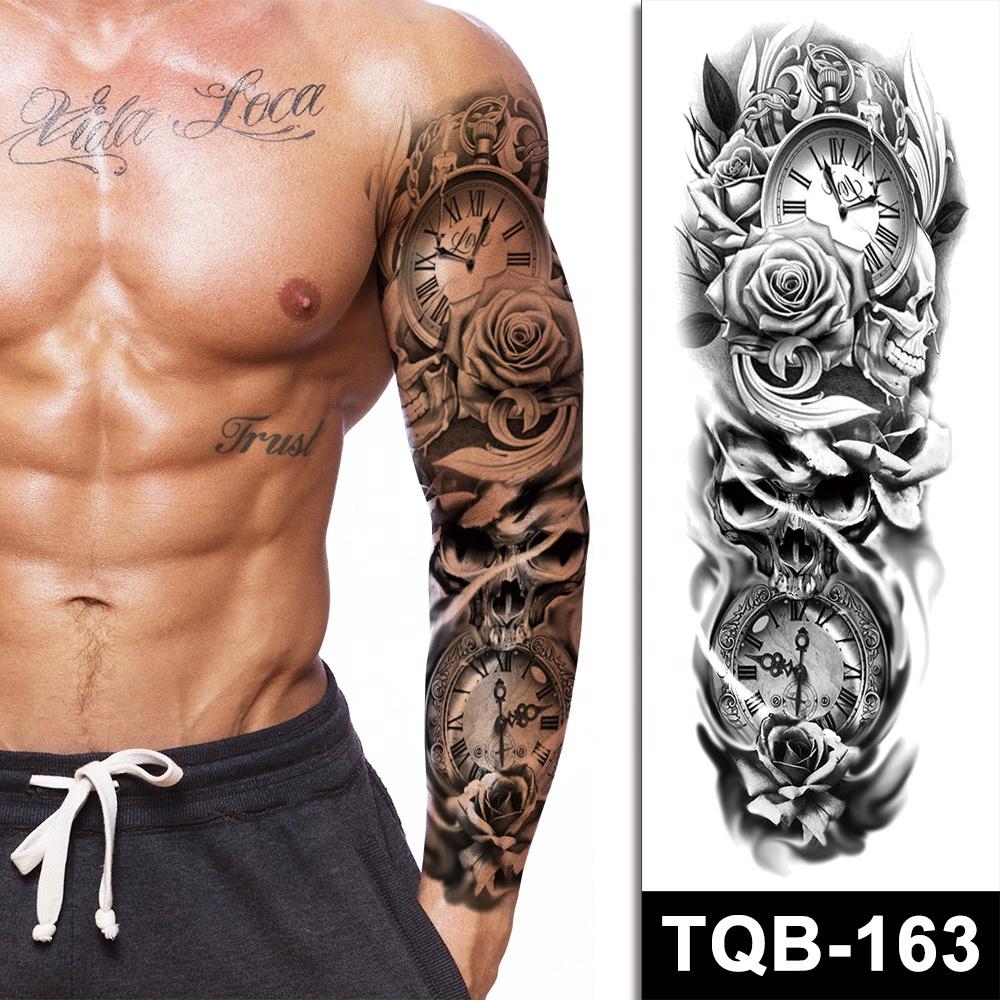 Unisex Waterproof Temporary Sticker Tattoo Sleeves Full Arm Fake Tattoo/ Tatto