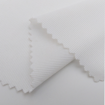 New Arrival with GRS Certitication Recycled RPET 100% Polyester Sportwear Knitted Fabrics Shoes Mesh Fabric Lining Garment WHITE