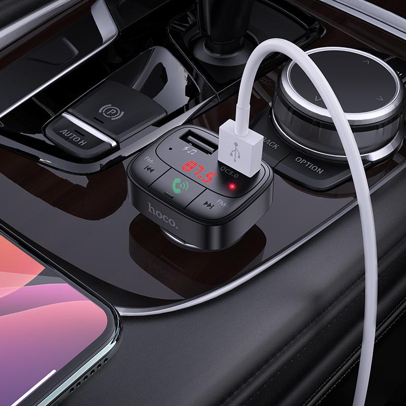 HOCO E59 Dual USB Car Charger Bluetooth FM Transmitter 7
