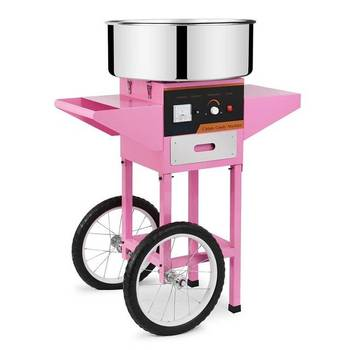 Fower Cotton Candy Floss Making Machine With Cart / Fairy Floss Maker/ Candy Maker For Sale