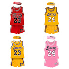 Kids Boys Girls Sleeveless Basketball Jersey Summer Clothing Sets Children Two Piece Vest +Shorts Clothes Set for Sport Wear