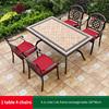 14-4 JL chair 1 AL frame rectangle table 150*90cm
