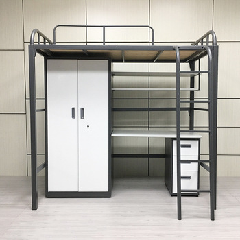 Wholesale school metal bunk bed frame steel bed iron kids bunk bed for student