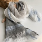 New Scarf Newest Desgin Large Scarf New Fashion Korean Plain Natural Cotton Linen Scarf Casual Crinkle Large Shawl