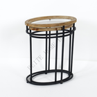 Metal Table Manufacturer Sale Nesting Metal Round Glass Top Side Table Furniture For Home