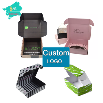 Custom Logo printing corrugated cardboard packaging shipping mailing box