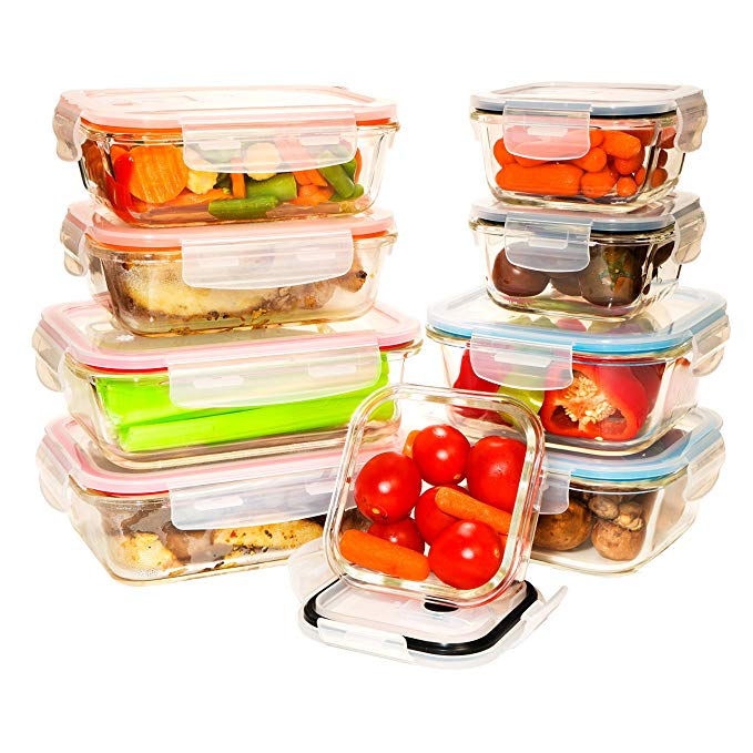 Professional glass lock food container bento lunch box set for wholesales