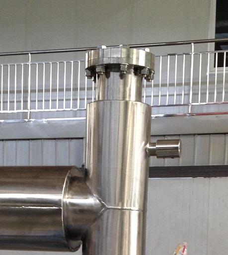 DN100-150 Vacuum Insulated Shut off Valve which controls Liquid Nitrogen in Vacuum Insulated Piping