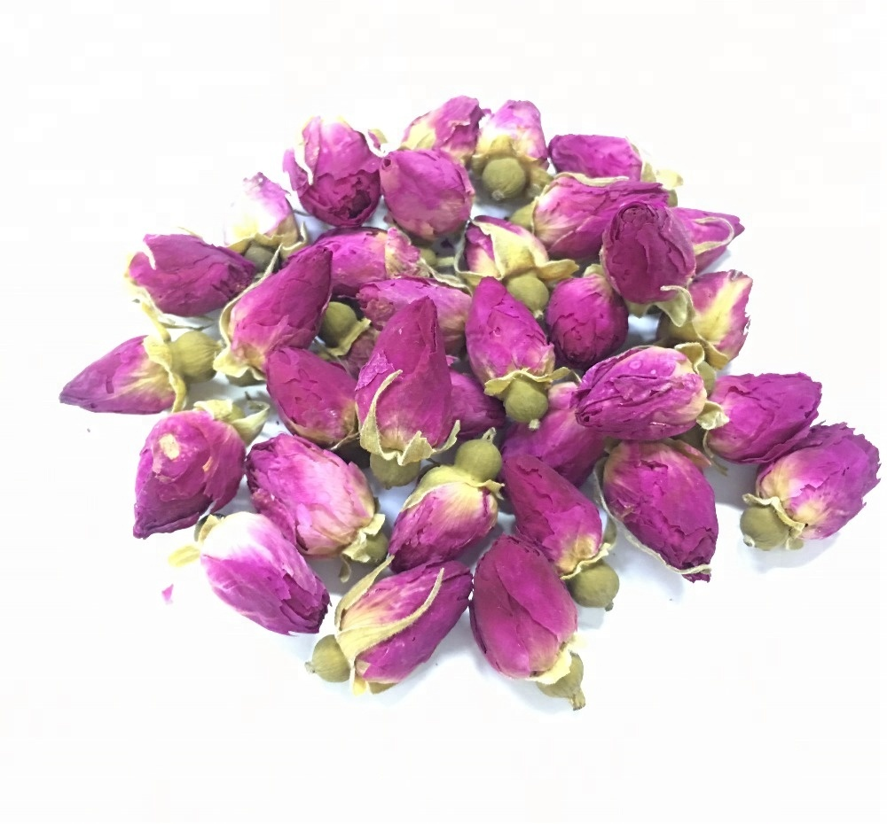 Dried Rose Buds for Tea Organic Rose Bud Tea Edible Rose Flower for Slimming - 4uTea | 4uTea.com
