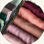 Pleated Scarf 2021 New Pleated Satin Silk Hijab Malaysia Satin Crepe Shawl Scarf