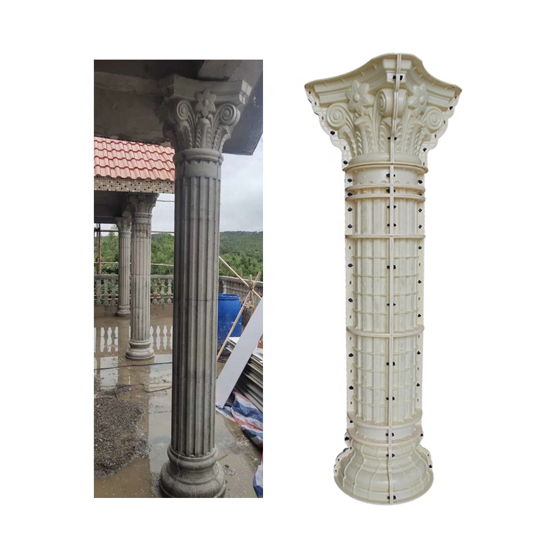 Diameter 35cm decorative roman concrete pillars column molds for sale