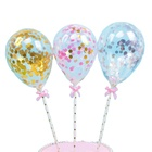 5 Inch Clear Ballons Cake Topper Birthday Party Wedding Cake Decorated Balloons