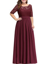 YULUOSHA свадебное платье с круглым вырезом, а-силуэта из тафты, Длинные вечерние платья подружки невесты с длинным рукавом размера плюс(Китай)