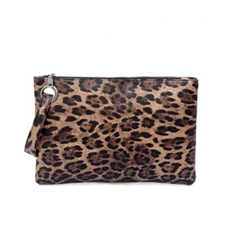 Women Leopard Clutch Bag Designer Large Capacity Clutch Handbag Lady Wristlet Purse Evening Bag