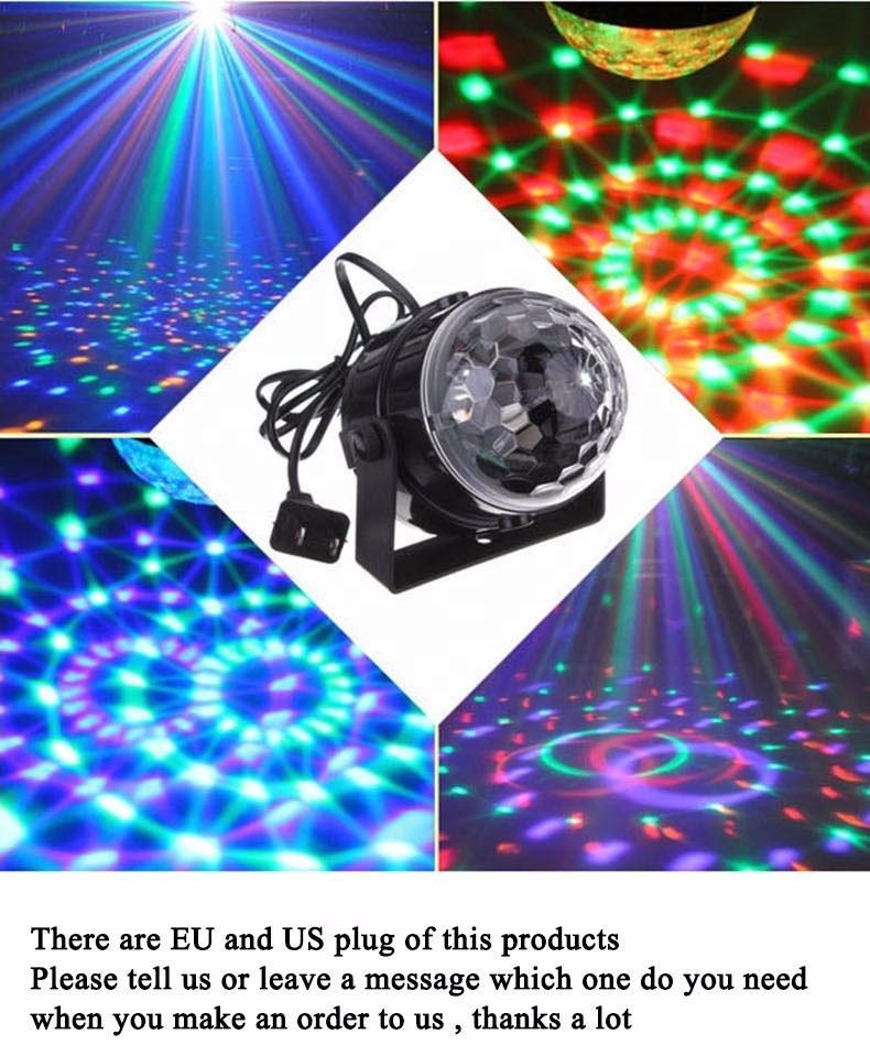 Волшебные украшения DC5V и питание от батареи RGB flash led диско шар огни для сцены