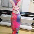Dress Hot Sell 2021 Summer Fashion Sexy Tie Dye Strapless Back Strappy Dress Women Halter Maxi Sundress European Style