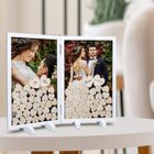 Wedding Decoration Decoration Wedding Visitor Book Alternative Wood Frame Large Heart And Sign Country Wedding Decoration Wedding Guest Books