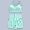 green bra+short