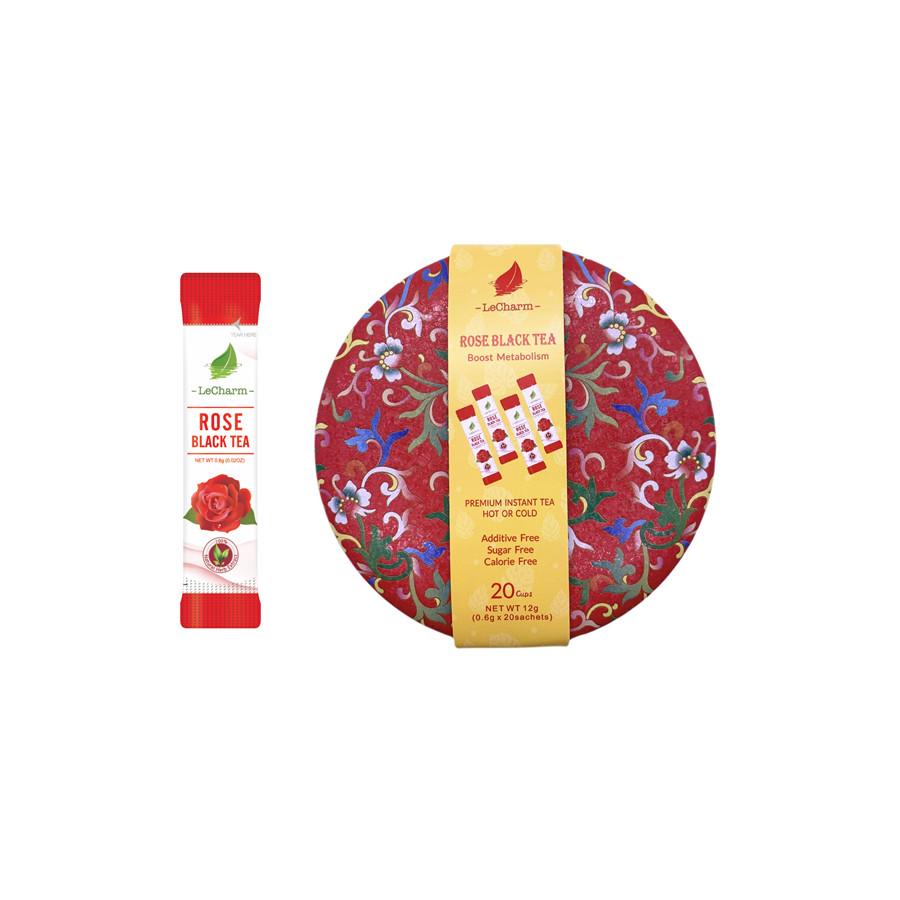 2021 New Arrival Christmas Promotion 15% Off Crisp Wonderful Organic Low MOQ Rose Black Tea 20 Sachets/ Can - 4uTea | 4uTea.com