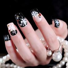 Новинка, 24 шт./компл., полное покрытие, накладные ногти, Модные накладные ногти, женский макияж, наращивание ногтей, натуральные украшения дл...(Китай)