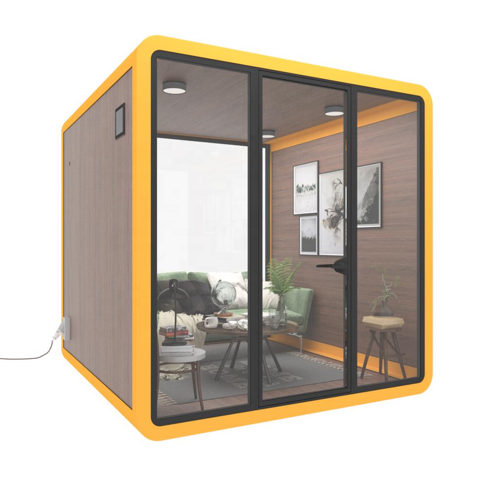Миниатюрная модульная телефонная будка для дома и офиса, для продажи, контейнер для дома