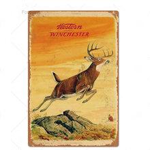 Охотничья Оловянная табличка, металлическая винтажная Ретро металлическая вывеска, Настенный декор для человека, пещерная пушка, магазин, ...(Китай)