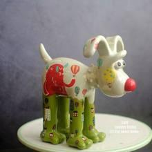 Европейский стиль смолы маленькая собака украшения дома аксессуары супер непобедимый Детская комната украшения(Китай)
