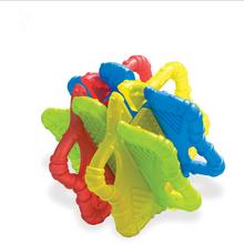 Детский массажный Прорезыватель для зубов для малышей, Прорезыватель для зубов, детские жевательные игрушки, строительные блоки, Силиконов...(Китай)