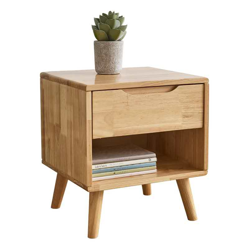 Simple Furniture Drawer Organizer Bamboo Nightstand Bedside Table