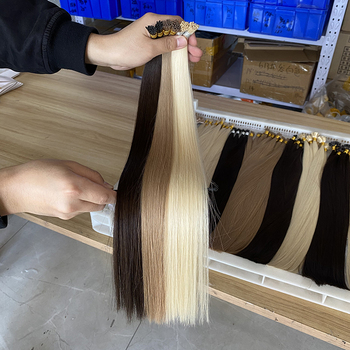 I Tip Human Hair Extension Dark Brown, Prebonded 100% Virgin Remy i-Tip Hair Extensions, Natural Raw Indian I Tip Hair Extension