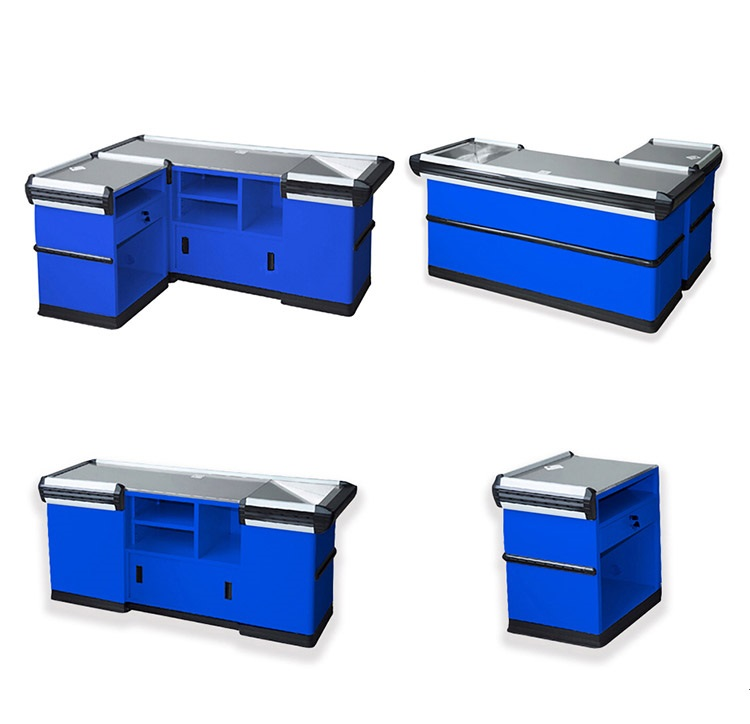2020 wholesale top quality beautiful Supermarket Checkout Counter,cashier counter