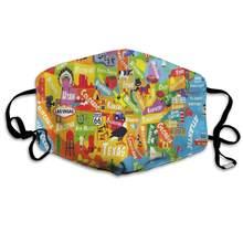 Кактус защитная маска с прокладкой одноразовый водоотталкивающий многослойный фильтр для взрослых Солнцезащитная большая маска S(Китай)