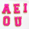Neon rosa Vokal (AEIOU)