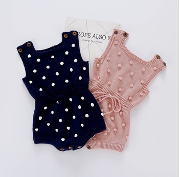 2021 New Arrivals Cotton Knitted Baby Rompers With Spot Design China Supplier Baby Clothes