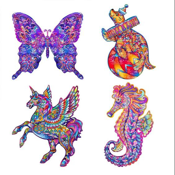 Wooden Jigsaw Puzzles Unique Horse Animal Jigsaw Pieces Gift for Adults and Kid!