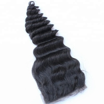 Manufacture Wholesale Drop Shipping Virgin Cuticle Aligned Mink Deep Wave Hair Closure