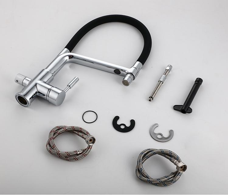 Фильтр для питьевой воды YLK0077, кран с двойной ручкой, латунь, хромированный полированный очиститель воды, для кухни