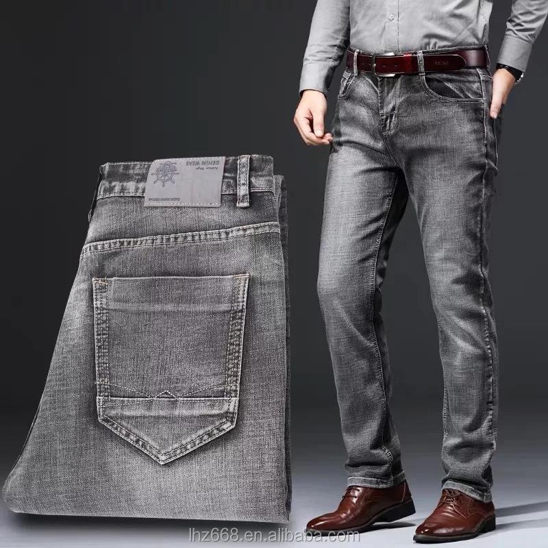 Pantalones Vaqueros Elasticos Para Hombre Venta Al Por Mayor De La Mejor Calidad Buy De Moda De Hombres Vaqueros Invierno Jeans Hombre De Los Hombres De Los Pantalones Vaqueros De La Raya Product