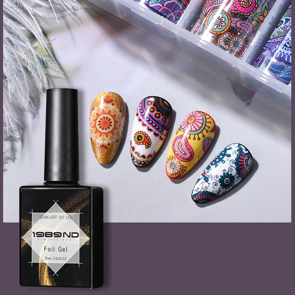 15ml top quality OEM private label uv led curing transfer foil gel nail polish