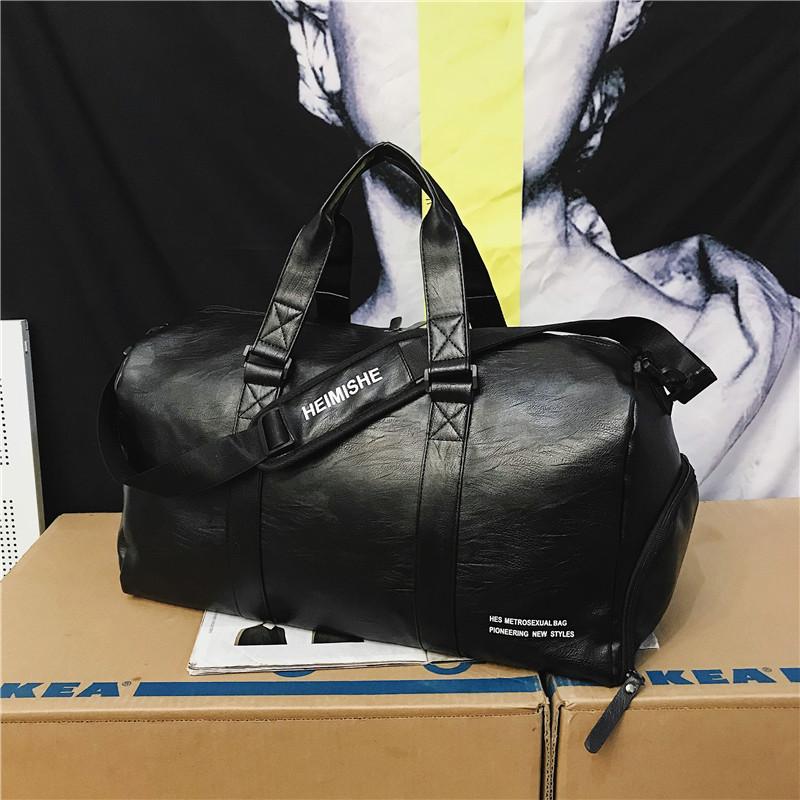 2021 custom Logo Travel weekend Bag waterproof pu leather sports gym travel duffle bag